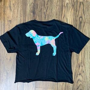 VS PINK Cropped Top - Tropical Dog